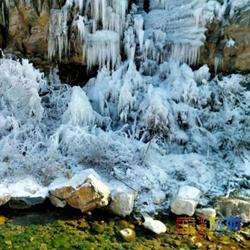 北京虎峪自然风景区冰瀑