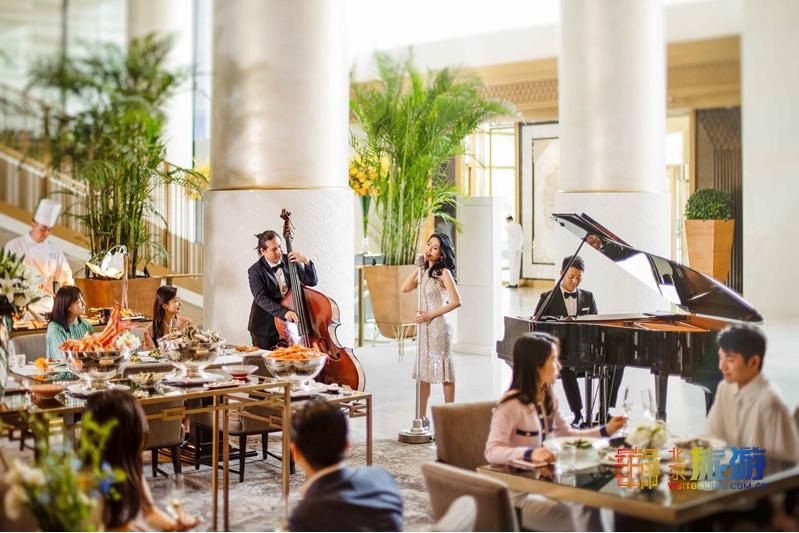 王府半岛澳门威尼斯人贵宾厅大堂茶座家庭周日早午餐,尽享惬意趣味好时光