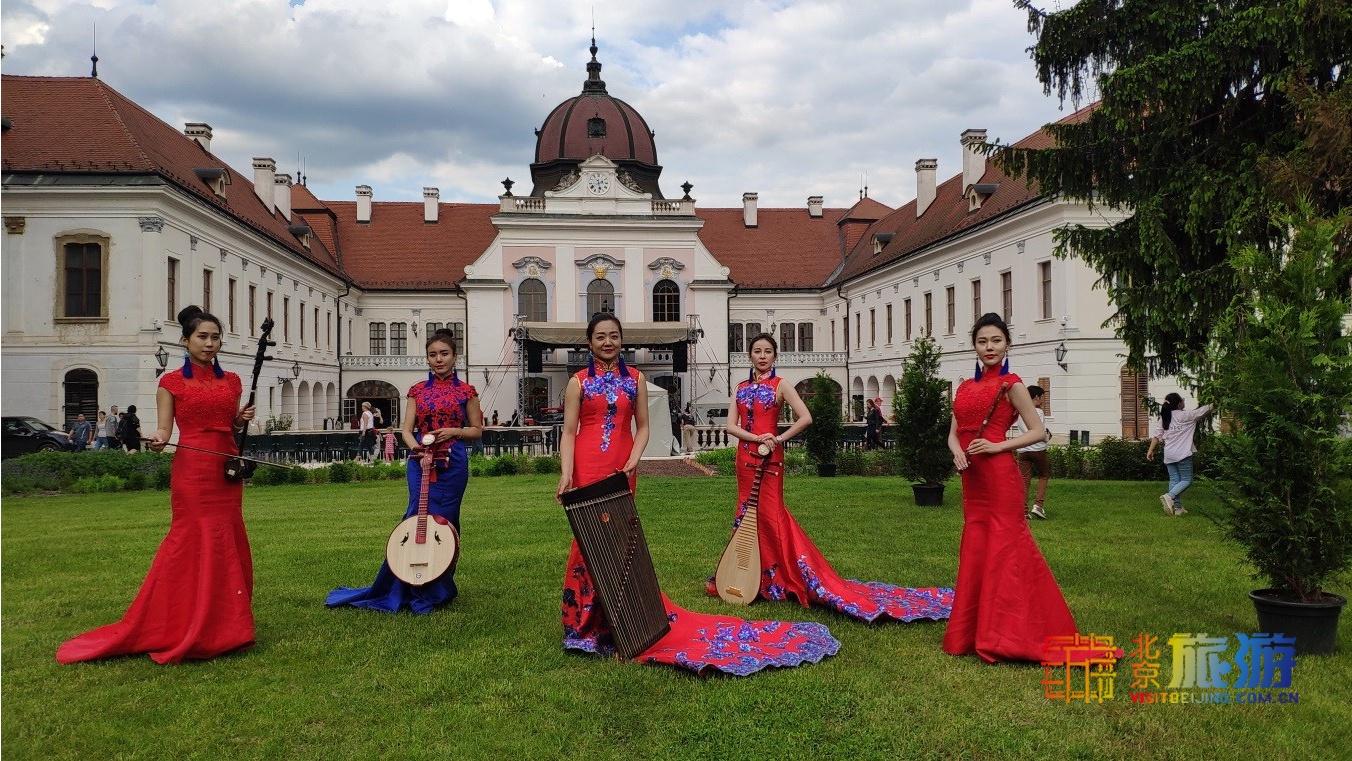 El Grupo de Arte Chino entró el Palacio de Sissi