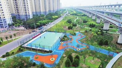 中北镇运河海棠园建成开放