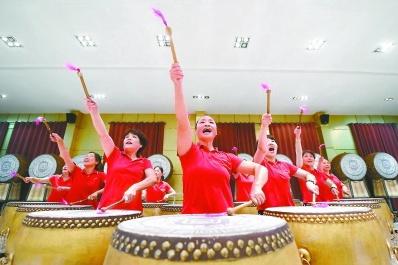北京门头沟军庄大鼓助阵2019年国际篮球世界杯