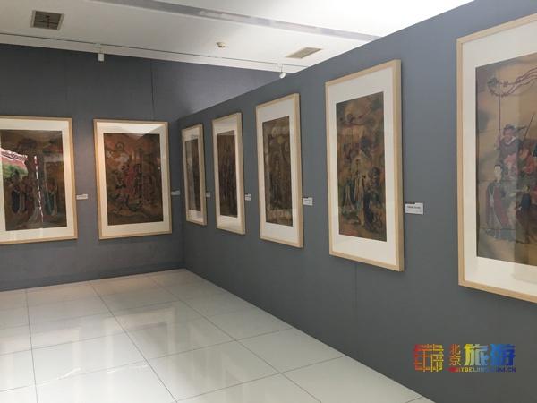 北京鲁迅博物馆举办中国水陆画作品展