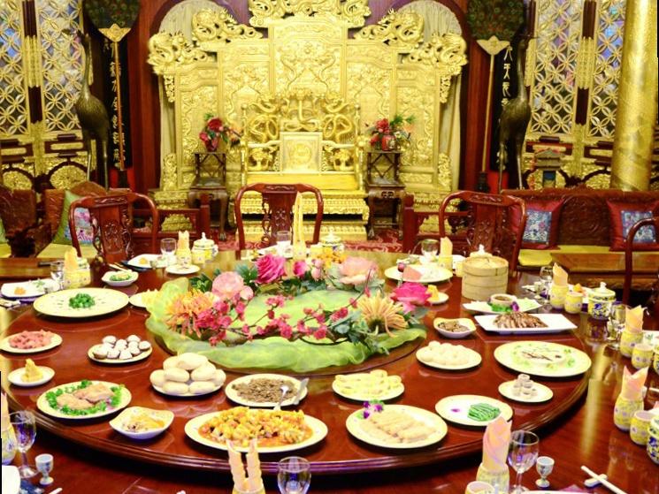 베이징의 궁중요리 레스토랑