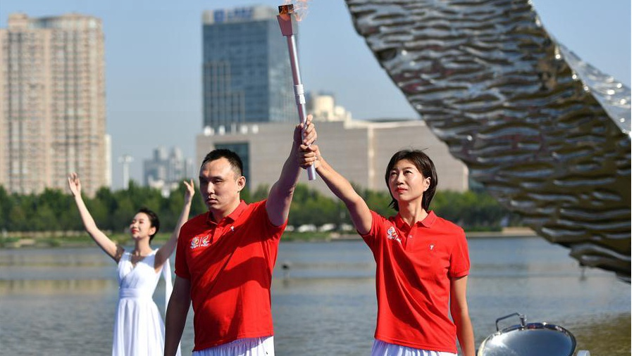 Torch relay for 10th National Games for the Disabled