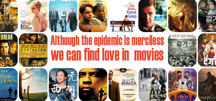 Although the epidemic is merciless, we can find love in  movies