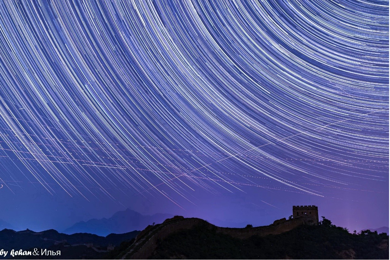 Jinshanling Great Wall starry sky