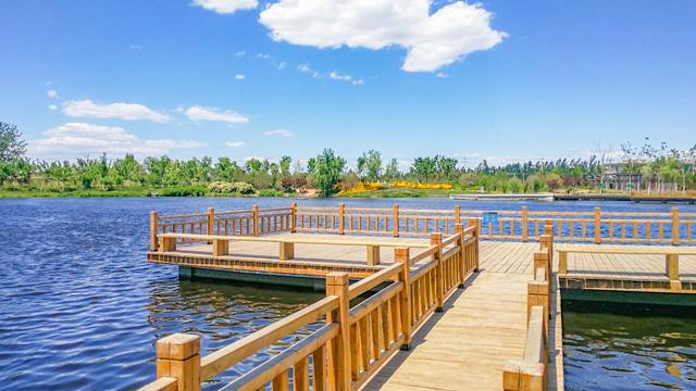 又一个油画里走出来的湿地公园,无须预约,免费停车,还能走到湖中赏水天一线