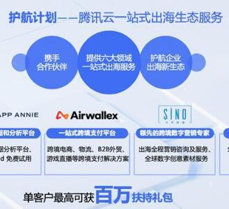 """腾讯云""""护航计划""""出炉,一站式服务助力出海企业拓展国际市场"""