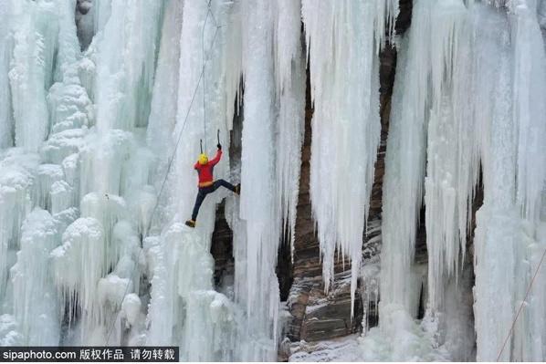 베이징 겨울 빙폭 감상지, 밀운 도원선곡