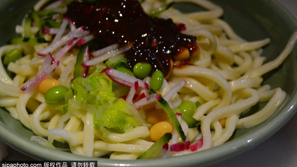 Authentic Beijing-style Noodles with Soy Bean Paste