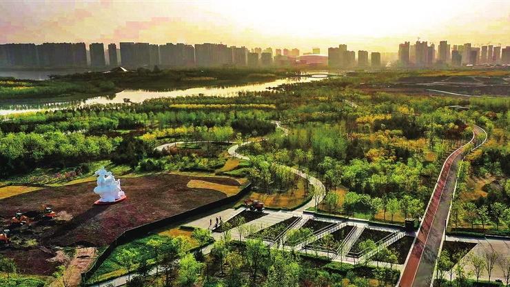 """""""晋泉之声""""雕像矗立晋阳湖公园"""