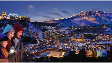 在长城下的圣诞小镇,邂逅冬日仙境童话