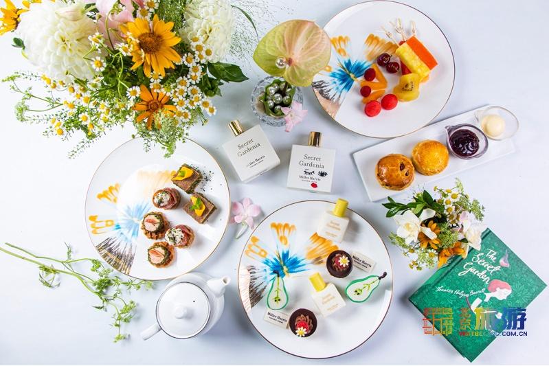 中♀国大饭店携手�Miller Harris推♀出夏栀茶语主题下午茶