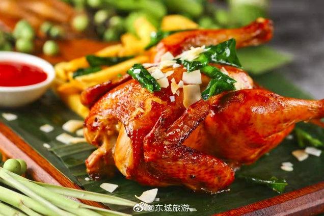 灿都东南亚餐厅:椰香烤鸡超级推荐
