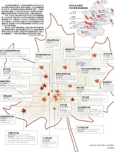 베이징시 가을 단풍채엽 감상구 19곳 발표