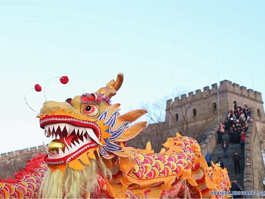 Evento de celebración con motivo del Día de Año Nuevo en la Gran Muralla