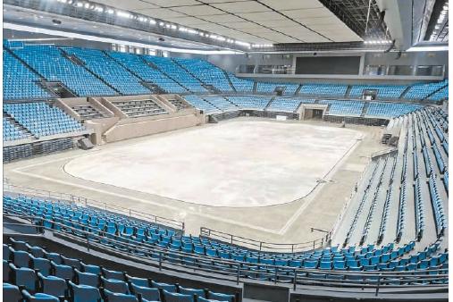 冬奥北京赛区15块冰面完成场地建设 第一块二氧化碳制冰冰面在首体诞生