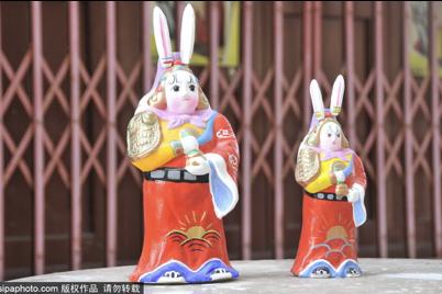 Magasin de lapin en sol pour la fête Mi-Automne