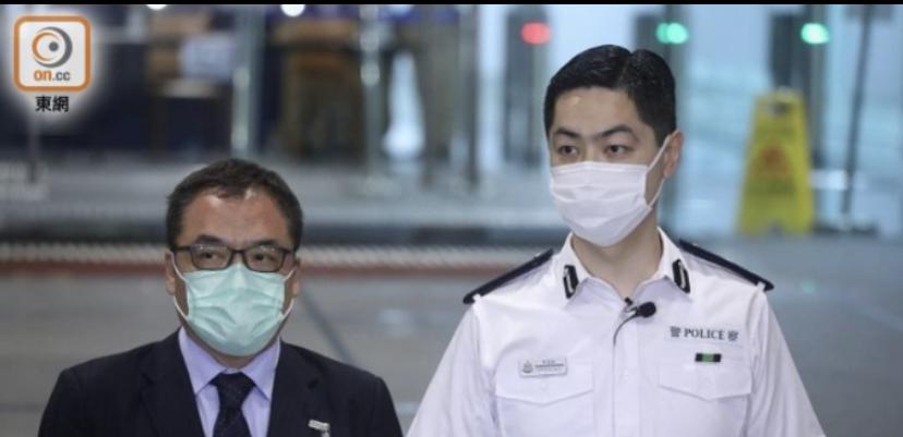 警方国安处高级警司李桂华(左)通报今日拘捕行动