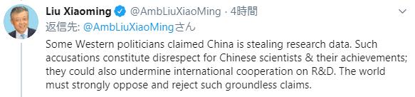 刘晓明推特截图