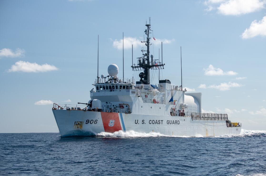 进行远航训练的美国海警船