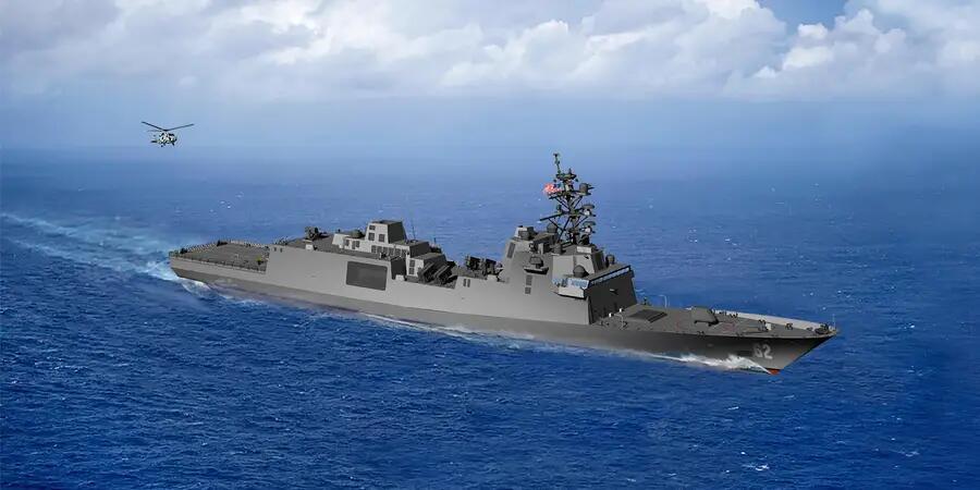 """美国海军""""新一代导弹护卫舰""""(FFG)设计方案"""