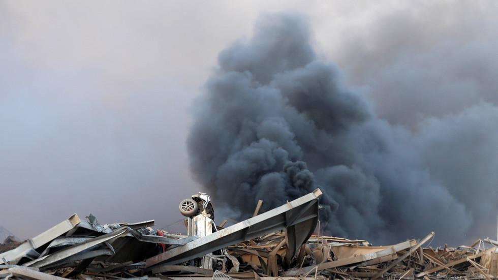 爆炸之后现场狼藉一片。(图源 俄罗斯卫星网)