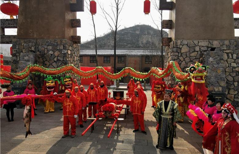 河北易县太行水镇多彩民俗活动迎新春